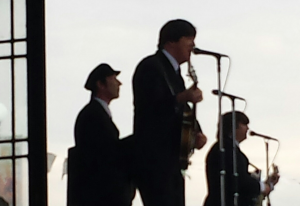 The Beatles for Sale performing at the bandstand.