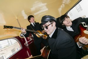 Let The Beatles For Sale take you back to the world of John, Paul, George and Ringo. Available for weddings and parties.